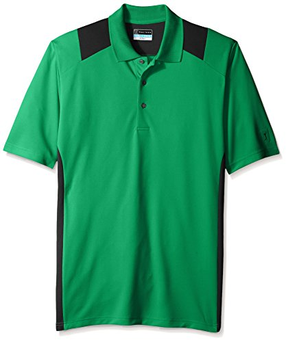 Pga tour men 39 s big tall golf performance two color blocked for Large tall golf shirts